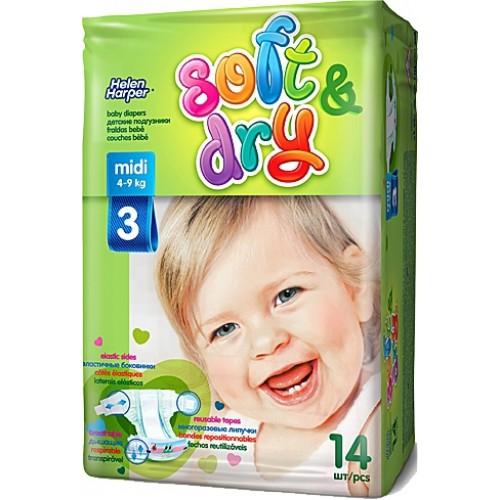 Подгузники детские helen harper soft и dry midi